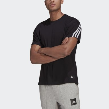 Men's Sportswear Black adidas Sportswear 3-Stripes Tee