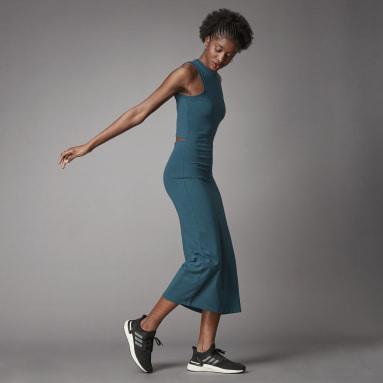 Dames Lifestyle Turquoise Terra Love Organic Cotton Jurk