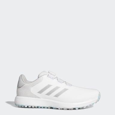 Men Golf White S2G BOA Spikeless Golf Shoes