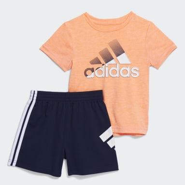 Infant & Toddler Training Orange Motion Shorts Set