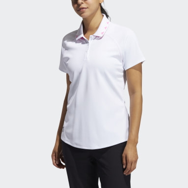 Women Golf White Equipment Primegreen Polo Shirt