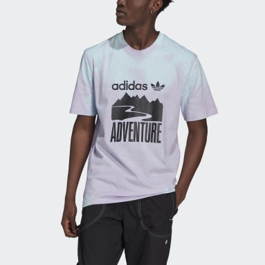 Heren Originals Paars adidas Adventure Heat-Reactive Color-Change Mountain T-shirt