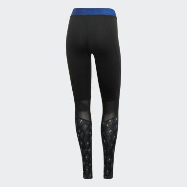 Calzas Alphaskin Iteration - Tiro Bajo Negro Mujer adidas by Stella McCartney