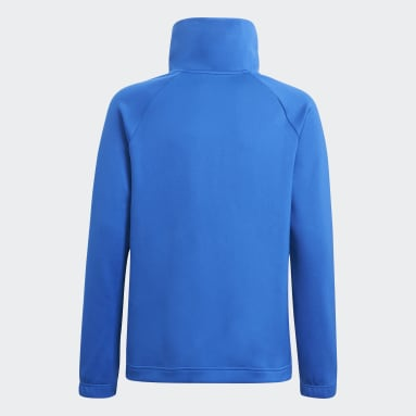 Youth 8-16 Years Gym & Training Blue Predator Football-Inspired Half-Zip Track Top