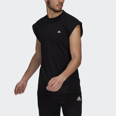 Men Sportswear Black adidas Sportswear Sleeveless Tee