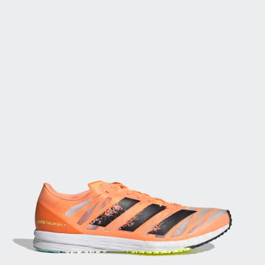 Men Running Orange Adizero Takumi Sen 7 Shoes