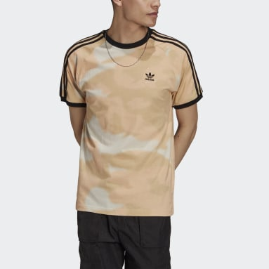 Heren Originals Beige Camo 3-Stripes T-shirt