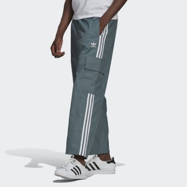 Men Originals Green Adicolor Classics 3-Stripes Cargo Pants