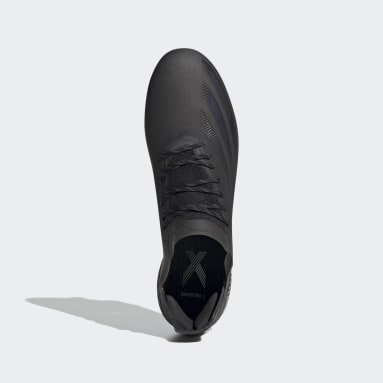 Men Soccer Black X Ghosted.1 Firm Ground Cleats