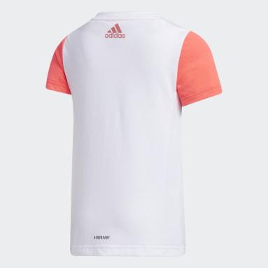 Mädchen Fitness & Training Large Polyester T-Shirt Weiß
