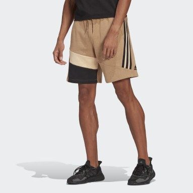 Men's Sportswear Brown adidas Sportswear 3-Stripes Tape Summer Shorts