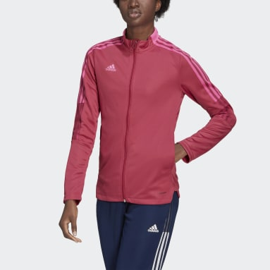 Women Football Pink Tiro 21 Track Jacket