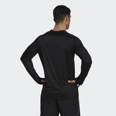 Polera Manga Larga Own the Run Negro Hombre Running