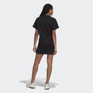 ผู้หญิง Originals สีดำ ชุดกระโปรงเสื้อยืด Varsity
