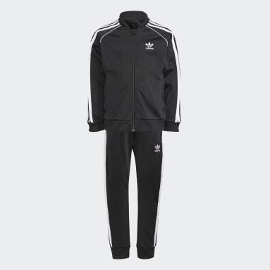 Kids Originals Black Adicolor SST Track Suit