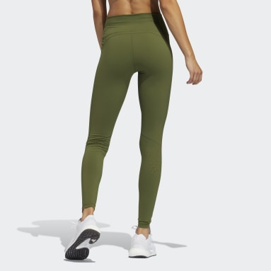 Women's Yoga Green Believe This 2.0 Perfect Long Tights