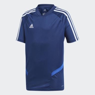 Kinderen Fitness En Training Blauw Tiro 19 Training Voetbalshirt