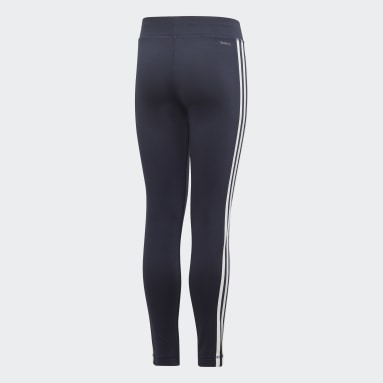 Meisjes Yoga Blauw Training Equipment 3-Stripes Legging