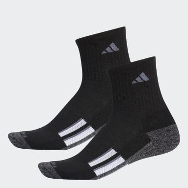 Men's Baseball Black Cushioned Mid-Crew Socks 2 Pairs