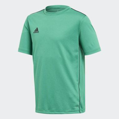 Camiseta entrenamiento Core 18 Verde Niño Gimnasio Y Entrenamiento