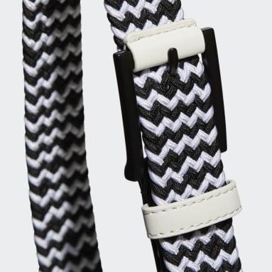 ผู้หญิง กอล์ฟ สีขาว เข็มขัดผ้าเว็บบิ้ง