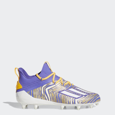 Men's Football Purple Adizero 10.0 Zubaz Football Cleats
