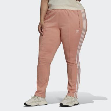 Women's Originals Pink Primeblue SST Track Pants (Plus Size)