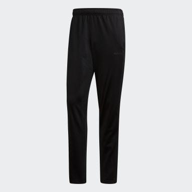 Men Essentials Black Essentials 3-Stripes Tapered Pants