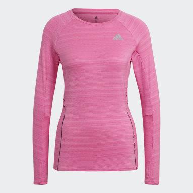 Women Running Pink Runner Long-Sleeve Top