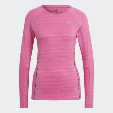 T-shirt Runner Long Sleeve Rose Femmes Running