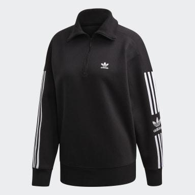 Sweatshirt Meio Fecho LOUNGEWEAR Preto Mulher Originals