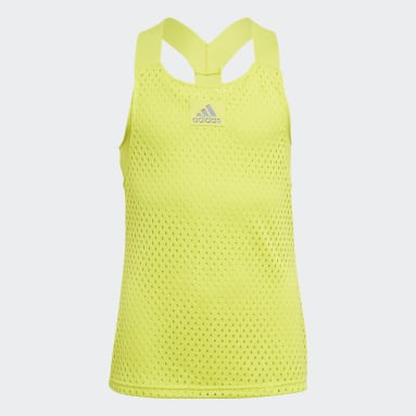 Youth 8-16 Years Tennis Yellow HEAT.RDY Primeblue Tennis Y-Tank Top