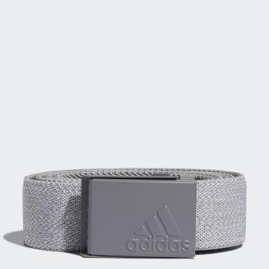 Men Golf Grey Heather Stretch Reversible Belt