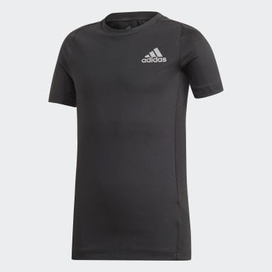 T-shirt TECHFIT Noir Garçons Yoga