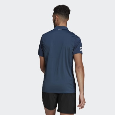 Camisa Polo Tennis Club   3-Stripes Azul Homem Tennis