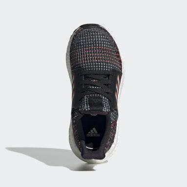 Children Running Black Ultraboost 19 Shoes