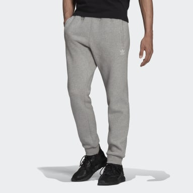 Muži Originals šedá Kalhoty Adicolor Essentials Trefoil