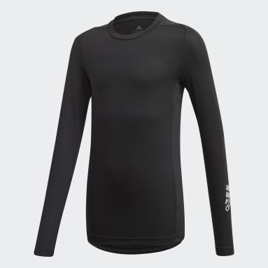 Boys Gym & Training Black Techfit Long-Sleeve Top