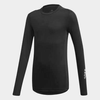 Boys Gym & Training Black Techfit Long-Sleeve Top