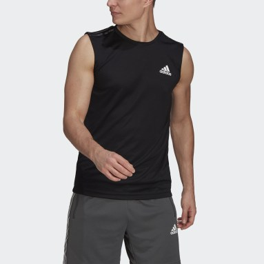 Men Gym & Training Black AEROREADY Designed To Move Sport 3-Stripes Tank Top
