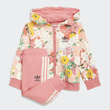Mädchen Originals HER Studio London Floral Hoodie-Set Rosa