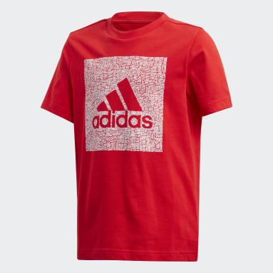 Boys Gym & Training Red Must Haves Badge of Sport Tee