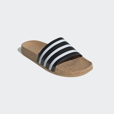 Women's Originals Black adilette Cork Slides