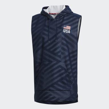 USAV SL Hoodie Azul Hombre Voleibol