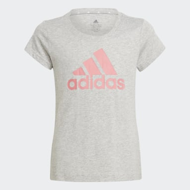 Camiseta adidas Essentials Gris Niña Sportswear