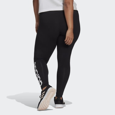 Essentials High-Waisted Logo Leggings (Plus Size) Czerń