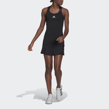 Women Tennis Black Tennis Y-Dress