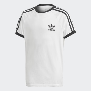 Camiseta 3 bandas Blanco Niño Originals