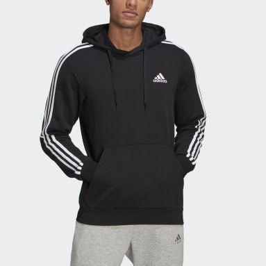 Men's Essentials Black Essentials 3-Stripes Hoodie