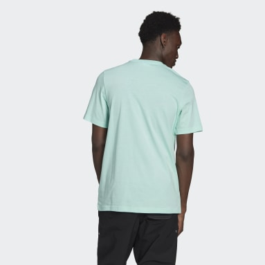 Heren Originals Turquoise LOUNGEWEAR Adicolor Essentials Trefoil T-shirt